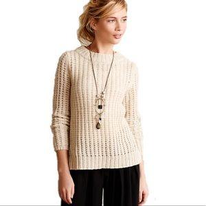 Anthropologie Fidel Flower Waffle Knit Sweater